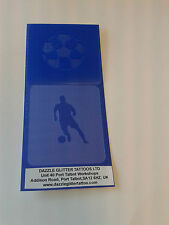 Football &  footballer face paint stencils  reusable many times soccer player