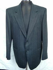 Valentino Uomo Pure Wool Suit 42 R Trousers 38 VGC Grey pinstripe