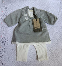 New With Tags IKKS  Baby Girls Winter Grey Coveralls / All-In-One / Outfit @12M