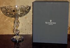 *NEW* RARE Waterford Crystal SEAHORSE Footed Pedestal Bowl 10 5/8""