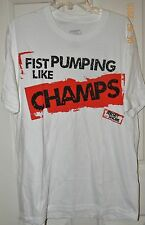 NWT JERSEY SHORE white FIST PUMPIN LIKE CHAMPS tee SHIRT* XL
