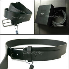 "NEW Auth Saint Laurent Paris Mens Black Calf Leather Belt Size 100cm 37"" 41"""