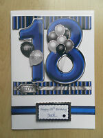 Hand-Made Male 18th Birthday Card -Can be Personalised
