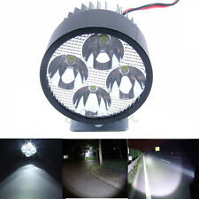 Motorcycle 20W 4 LED Bright Headlight Lamp Driving Fog Head Spot Light Black