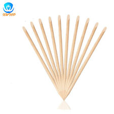 10PCS Nail Art Stick Wood Manicure Cuticle Remover and Dotting Nail Art Tools