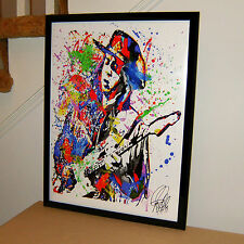 Stevie Ray Vaughan, SRV, Blues Guitar Player, Singer, 18x24 POSTER w/COA S