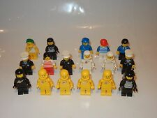LOT OF (16) LEGO LEGOLAND MINIFIGURES CLASSIC TOWN POLICE SPACE 1980s