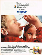 PUBLICITE ADVERTISING 084  1966  NESQUICK  petit déjeuner chocolaté