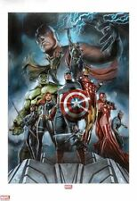 SIGNED Sideshow Exclusive Avengers Art Print ~ Adi Granov #193/350 Hulk Iron Man