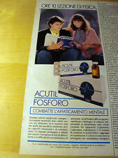 PUBBLICITA' ADVERTISING WERBUNG 1991 ACUTIL FOSFORO (G21)