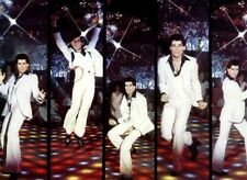 Retro Men Adult Saturday Night Fever Disco Man Halloween Costume One Size