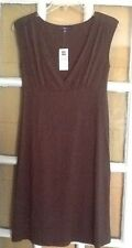GAP brown DRESS Flare V-neck sz S NWT