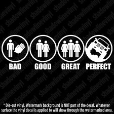 "4x4 ""PERFECT"" Vinyl Decal Sticker Mudder Swamper Lifted Truck SUV Off-Road Funny"