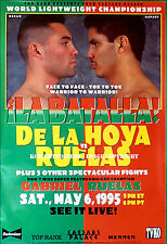 OSCAR DE LA HOYA vs. RAFAEL RUELAS / Original Full-Size TVKO Boxing Fight Poster
