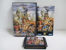 Mega-Drive Genesis -- GOLDEN AXE 3 -- Box. JAPAN GAME. Clean&Work fully!!13341
