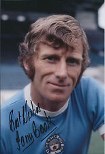 Tony BOOK Signed Autograph 12x8 Photo AFTAL COA Manchester City Captain