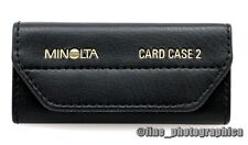 Original MINOLTA CARD CASE 2 Etui für 10 Programmkarten Chipkarten PROGRAM CARDS