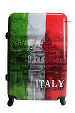 VALIGIA TROLLEY GRANDE RIGIDA LUCIDA CON 4 RUOTE AUTONOME - ITALIA