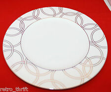 Waterford Fine Bone China Halo Dinner Plate 27.5cm 10.75 inch White Silver AS-IS