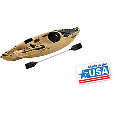 Sun Dolphin Journey 10' Sit-On Fishing Kayak with Paddle, Sand