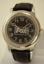 COLLECTIBLE MEN'S FOX BLACK WATCH WITH METAL BEZEL & GLOWS IN THE DARK