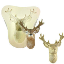 3D Stag's Head Mold Christmas Deer Silicone Mould Fondant Cake Molds Chocolate