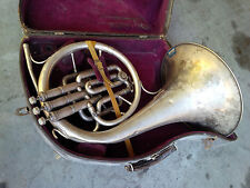 KING by H.N. White  no. 117414  silver-plated French Horn w/ case  Parts Repair