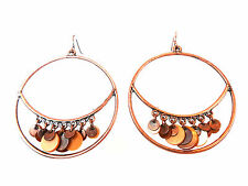 ELEGANT LADIES UNIQUE BRONZE MULTI LAYER CHUNKY EARRING BRAND NEW UNIQUE (A15)