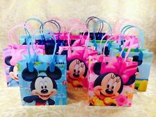 12PC DISNEY MICKEY MINNIE MOUSE GOODIE BAGS PARTY FAVOR BAGS GIFT BAGS