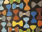 BOW TIES MEN MULTI COLORS COTTON FABRIC FQ