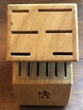 J. A. Henkels International 12 Slot Hardwood Knife Block Storage