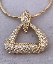 DIAMOND PENDANT WITH CHAIN 18K YG, 1.00 C OF DIAMONDS, RET. APPR. USD $2,850.00
