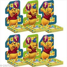 WINNIE the POOH 1st BIRTHDAY CUPCAKE HOLDERS (6) ~ Table Supplies Party Favors