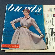 Modezeitschrift BURDA MODEN 1/1956 - 2 Schnittmuster-Bg 50er Jahre FASCHING