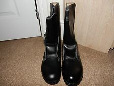 British Army 1980s  Black High Leg Combat Boots Size 8 NEW