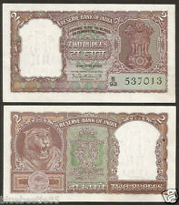 ★ ★  2 Rupees ~ P.C Bhattacharya ~ UNC ~ Brown ~ B5 ~ 1965 ★ ★ bb85