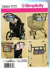 Craft Organizers Walker Stroller Grocery Cart Sewing Pattern Simplicity 2664 **