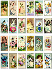 24 EASTER - DOMINO - 155 LB SCRAPBOOK PAPER CRAFT CARD TAGS - VINTAGE STYLE