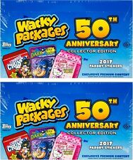(2) 2017 Topps Wacky Packages 50th Anniversary Collector Edition Hobby Box LOT