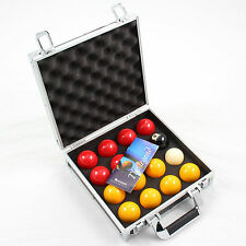 Aramith PREMIER Red & Yellow 2 Inch Pool Balls & Sturdy Carrying Case