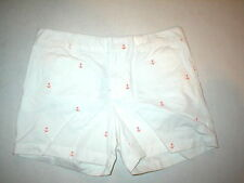 NWT New Womens Tommy Hilfiger Shorts 6 Anchor Orange White Casual Nice Twill