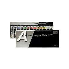 Acrylic Color Paint Alpha Silver Label Set 13 Colors 20ml 0.67oz Tube