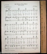 "SMITH COLLEGE Vtg Song c 1929 ""Oh! Fairest Alma Mater"""