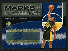 Fred Jones 2004 Topps Marks of Excellence signed autograph auto Basketball Card