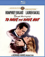 To Have and Have Not  WARNER ARCHIVE BLU-RAY Hawks, Bogart, Bacall *BRAND NEW*