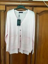 MARKS & SPENCER LUXURY LADIES PINK PURE MERINO WOOL CARDIGAN BNWT