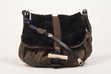 "Jamin Puech NWT $540 Brown Leather & Shearling ""Chamonix"" Two Way Crossbody Bag"