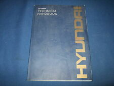 HYUNDAI EXCAVATOR WHEEL LOADER TECHNICAL HANDBOOK BOOK MANUAL 2004
