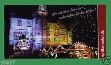 gelaufen Karte Marburg Weihnachten Marktplatz Unkel Nacht AK-Übergröße