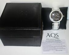AQUASWISS WHITE Ceramic/Stainless Steel Swiss Watch RETAIL $1,400 NEW